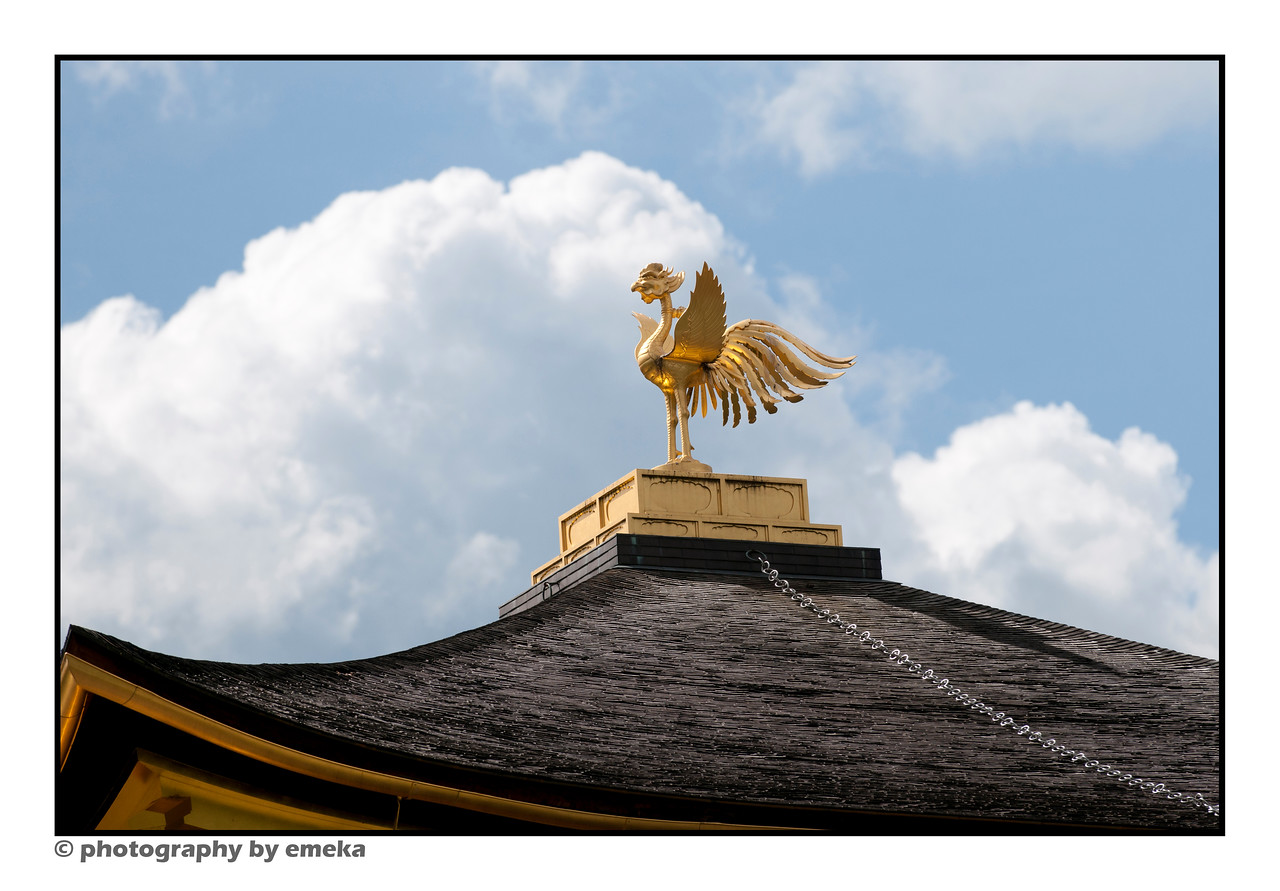 Kinkakuji's golden phoenix, sitting atop the pavilion.