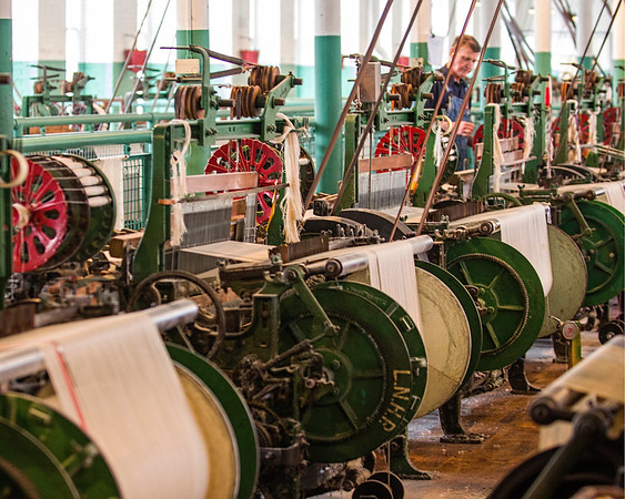 Working Looms at the Boot Cotton Mill