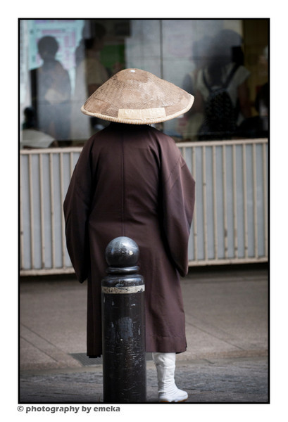 This Monk didn't like his picture taken...so promptly turned around as I raised my camera