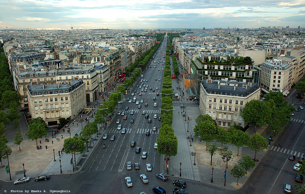 Chams Elysees - from atop of the Arc De Triomphe