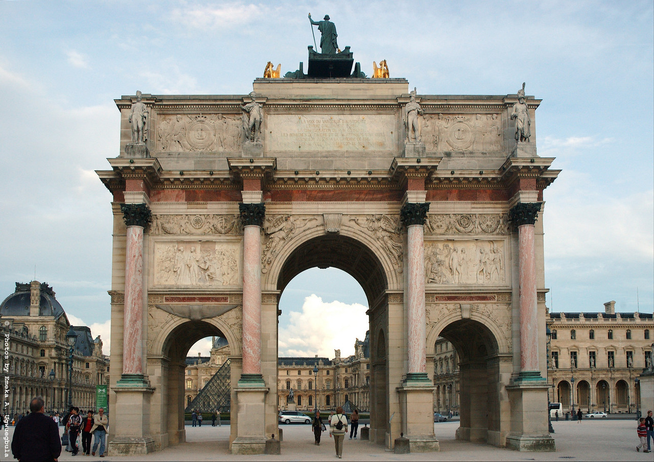 Arc De Triomphe De Carrousel - This structure sits in front of the Louvre Museum