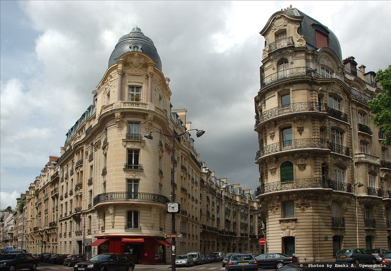 Paired Angled Buildings - Just one example of the wonderful architecture in Paris