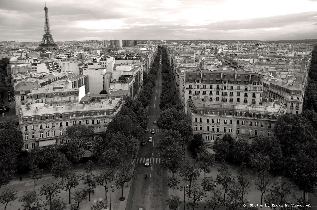 Pairis City Scape - taken from atop the Arc De Triomphe