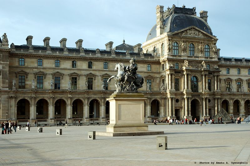 Courtyard of the Louvre Museum