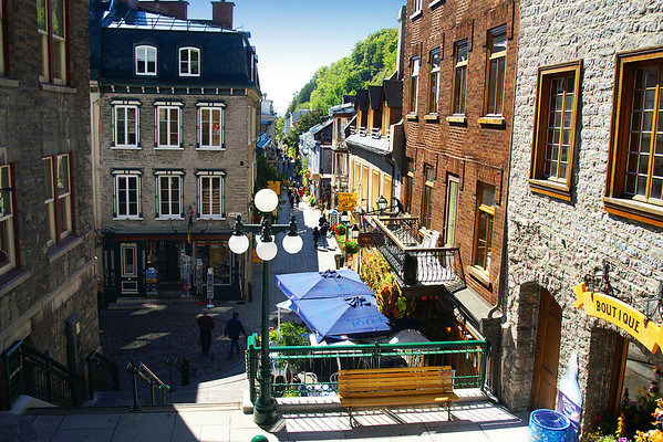 Rue Petite Champlain - THe oldest street in North America