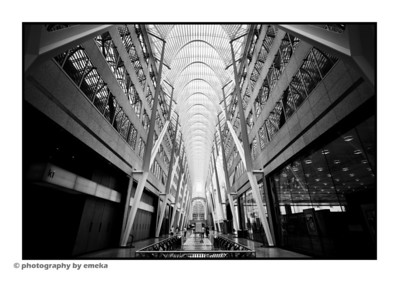 The view...'eastbound', through the Allen Lambert Galleria in BCE Place