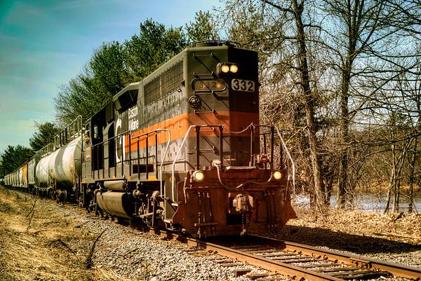Boston and Maine Engine 332