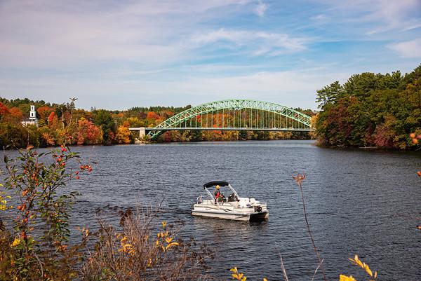 Tyngsborough Bridge in Fall