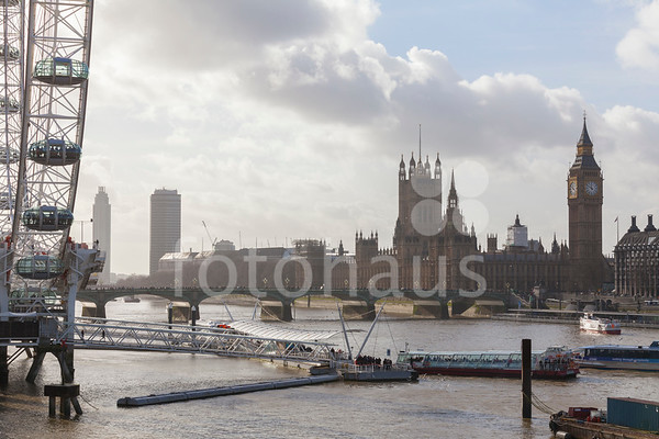 Palace of Westminster, Big Ben and London Eye, Lambeth