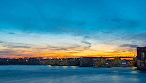 Ottumwa Dam Sunset