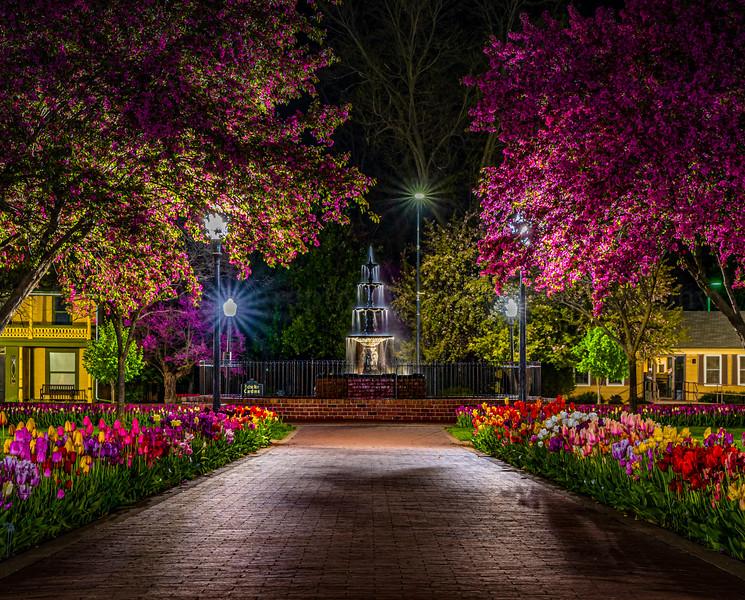 Pella Square at Night