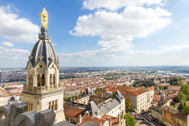 Lyon, vue d'en haut