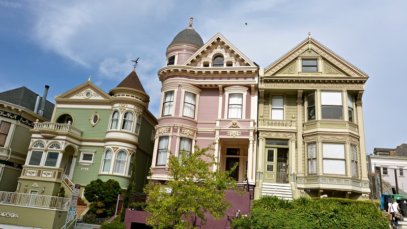 """Painted Ladies"" - Alamo Square - San Francisco"