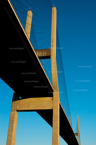 Alex Frasier Bridge with blue sky