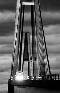 Skytrain Bridge b&w