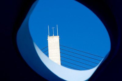 Alex Fraser Bridge framed