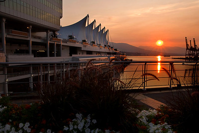early morning at Canada Place