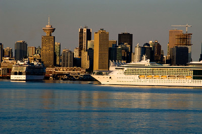Cruise Ship is coming home from long trip to Alaska