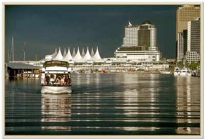 Dinner Cruise at Coal Harbour with Vancouver City skyline as the backdrop