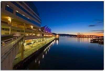 Early morning by Vancouvers Convention Centre at Canada Place