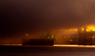 Freighter in Burrad Inlet