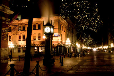 Gastown with its unique Steamclock