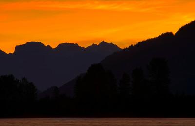 Sunrise over the River, Mission B.C.