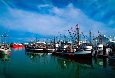 Richmond, Steveston Fishing Boats standing idle