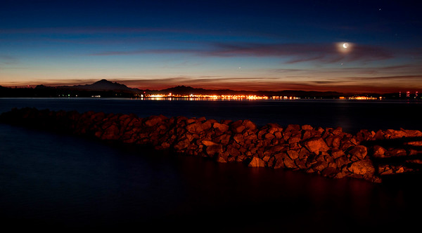 White Rock, Semihanoo Bay, Mount Baker in the background