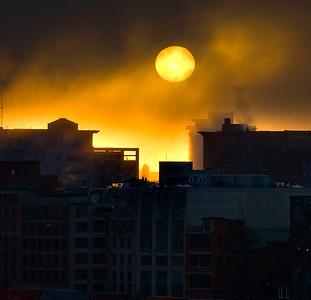 Magic when the sun burns thru the thick fog.