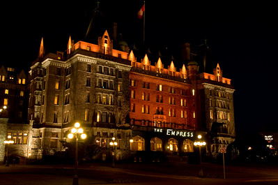 The Empress Hotel in Victoria, accross from the Harbour