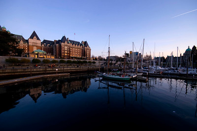 Empress Hotel with reflection