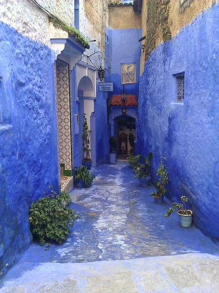 Narrow Alleyway; Chefchaouen, Morocco