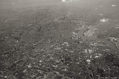 Shanghai aus dem Flugzeug