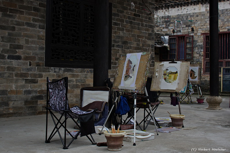 Painting in Zhang Guying Village