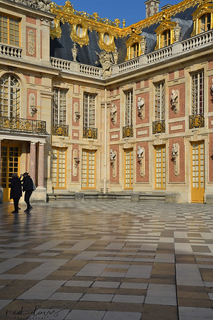 The Marble Court at the Palace of Versailles, France