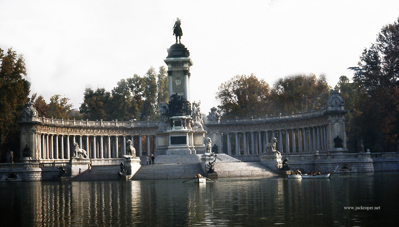 Madrid Spain King Alfonso the Twelve at Retiro park