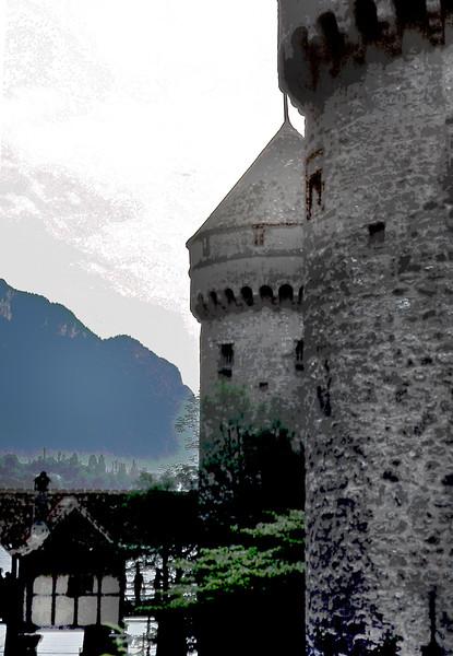Lake Geneva, Switzerland. The Chateau Castle