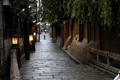 Famous walk way in the Shirakawa section of Kyoto.