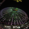 The ferris wheel at Minato Mirai. Taken with  a Nikon Ai-s 16mm f3.5 fisheye on a D700--a fun combo.