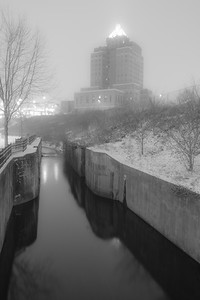 Down at Lock 3 in a Snowstorm