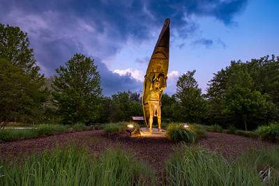 Portage Path Northern Terminus Statue
