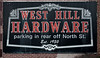 West Hill Hardware Sign