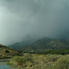 Rain moving across the mountain