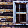 Window of an old cabin in the Lehigh Parkway