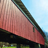 Bridge of the Little Lehigh river, one of a few covered bridges in the area that uses the Burr arch design from the mid 1800's This one is from 1841.