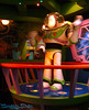 Buzz Light-year at entrance to Space Blaster ride