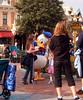 Donald Duck signing autographs