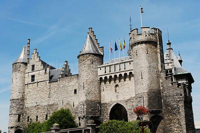 View on Het Steen in Antwerp (Antwerpen), Belgium.