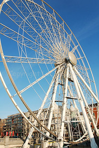 The Ferris Wheel in Antwerp (Antwerpen), Belgium. While not as tall as the London Eye, it still attracts numerous tourists.
